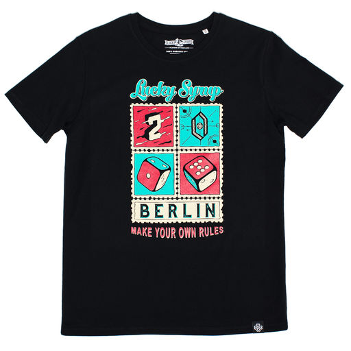 Lucky Syrup Top Quality T-shirts from Berlin | Live and die in Berlin white | 2017