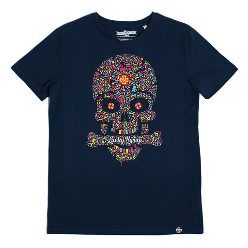 Lucky Syrup Top Quality T-shirts from Berlin | Live and die in Berlin white | Candy Skull