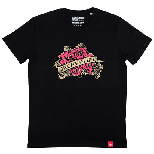 Lucky Syrup Top Quality T-shirts from Berlin | Live and Let Live Wh | Live and let live