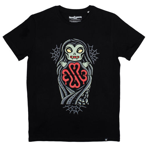 Lucky Syrup Top Quality T-shirts from Berlin | Candy Skull | Vampire Doll